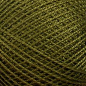 Нитки для вязания Ирис 100% хлопок 25 гр 150 м цвет 4510 темный хаки фото