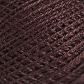 Нитки для вязания Ирис 100% хлопок 25 гр 150 м цвет 5710 тёмно-коричневый фото