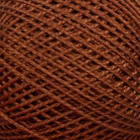 Нитки для вязания Ирис 100% хлопок 25 гр 150 м цвет 6512 коричневый фото