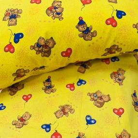 Бязь ГОСТ детская 150 см 609/4 цвет жёлтый фото