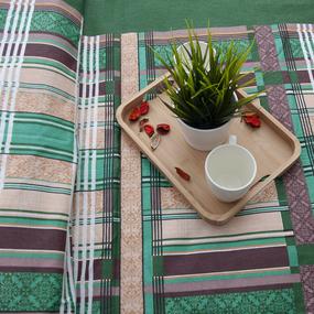 Пододеяльник из бязи 351/2 Клетка цвет зеленый, 1,5 спальный фото