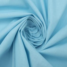 Маломеры поплин гладкокрашеный 115 гр/м2 220 см цвет голубой 0,9 м фото
