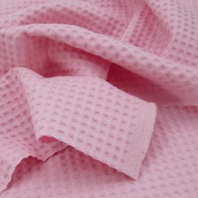 Ткань на отрез вафельное полотно гладкокрашенное 150 см 240 гр/м2 7х7 мм цвет 808 пыльная роза фото