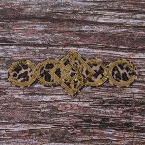 Аппликация Узор на леопардовом фоне 36,5*13 см фото