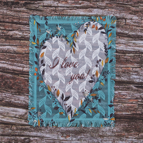 Декоративный элемент пришивной I love you 20,5*25,5 см фото