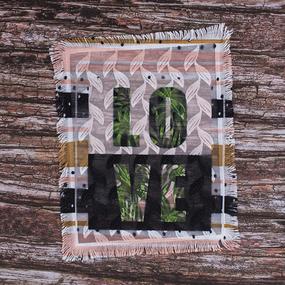 Декоративный элемент пришивной Love 19*23,5 см фото