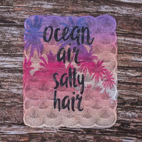 Декоративный элемент пришивной Ocean, air, salty, hair 20,5*25,5 см фото
