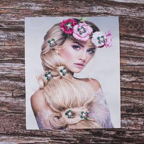 Декоративный элемент пришивной Блондинка с венком 19*23,5 см фото