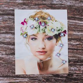 Декоративный элемент пришивной Девушка с венком 25,5*33 см фото