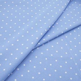 Ткань на отрез супер софт 1604 Пшено цвет голубой фото
