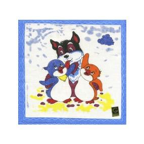 Платки носовые детские 21х21 Лоло и Пепе (12 шт) фото