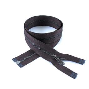 Молния металл №1 черный никель разъем 160см D088 коричневый фото