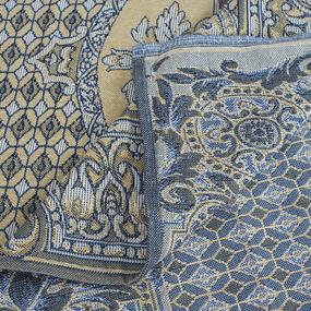 Покрывало гобелен Рабица (акант) синий 147/210 фото