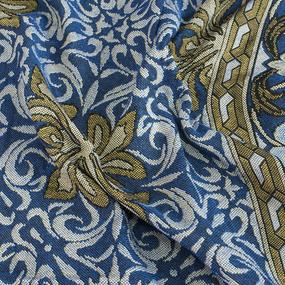 Покрывало гобелен Ромашка синий 147/210 фото