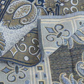 Покрывало гобелен Огурцы синий 147/210 фото
