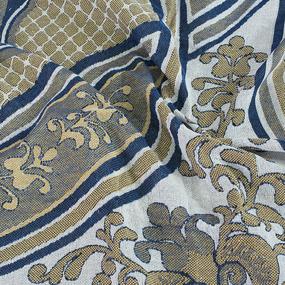 Покрывало гобелен Эльвира синий 147/210 фото