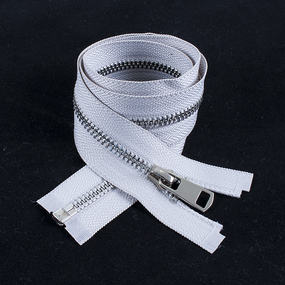 Молния металл №5ТТ никель разьем 65см D165 светло серый фото