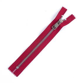Молния металл №5ТТ никель н/р 18см D171 красный фото