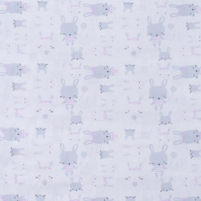 Ткань на отрез бязь 120 гр/м2 детская 150 см 9274 Зайки фото