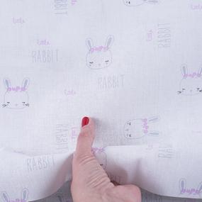 Ткань на отрез бязь 120 гр/м2 детская 150 см 9275 Зайки компаньон фото