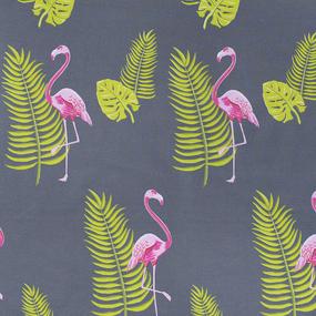 Ткань на отрез поплин 220 см 115 г/м2 28283/1 Розовый фламинго фото