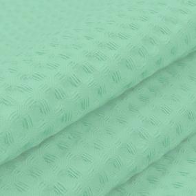 Ткань на отрез вафельное полотно гладкокрашенное 150 см 240 гр/м2 7х7 мм цвет 079 фисташка фото