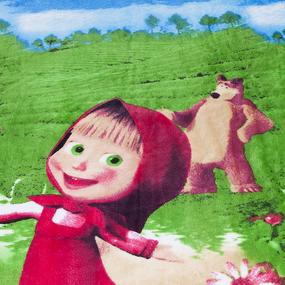 Покрывало велсофт SC-04 Маша и медведь 150/200 фото