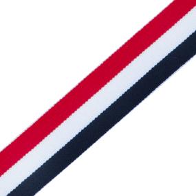 Лампасы №20 резинка красная белая синяя 4см уп 10 м фото