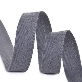 Лента киперная 15 мм хлопок 2.5 гр/см цвет F311 темно-серый фото