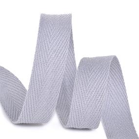 Лента киперная 15 мм хлопок 2.5 гр/см цвет S361 серый фото