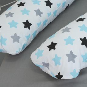 Наволочка поплин на подушку для беременных U-образная 1798/2 фото