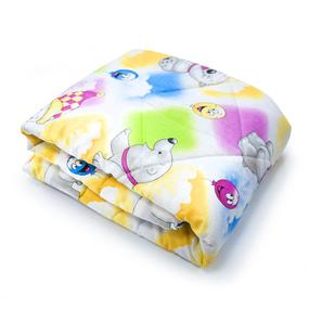 Одеяло Овечья шерсть 300гр Всесезонное 110х140 см хлопок фото