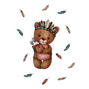 Ткань на отрез перкаль детский 112/150 см 07 Мишка-охотник фото
