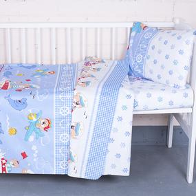 Постельное белье в детскую кроватку 92931 бязь ГОСТ фото