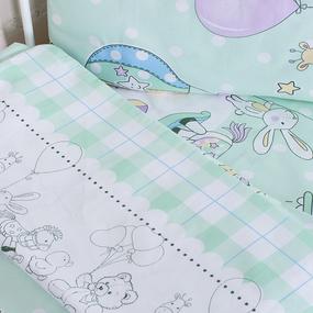 Постельное белье в детскую кроватку 92972 бязь ГОСТ фото