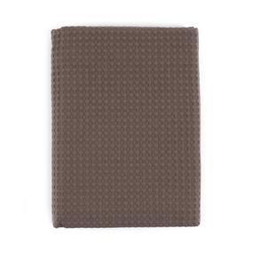 Полотенце вафельное банное Премиум 150/75 см цвет 896 темно-коричневый фото