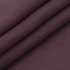 Ткань на отрез футер 3-х нитка компакт пенье начес цвет темно-лиловый фото