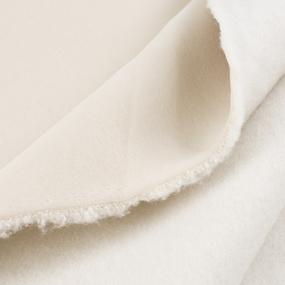 Ткань на отрез футер 3-х нитка компакт пенье начес цвет кремовый фото
