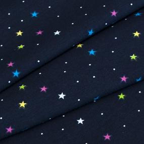 Маломеры кулирка лайкра пенье Звезды разноцветные R146 0.85 м фото