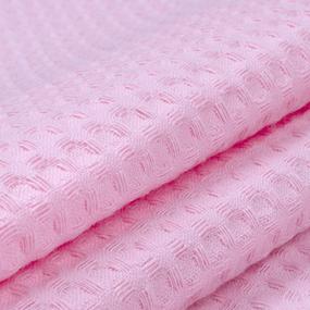 Ткань на отрез вафельное полотно гладкокрашенное 150 см 240 гр/м2 7х7 мм цвет 071 розовый фото