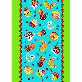 Вафельное полотно 45 см 170 гр/м2 419А цвет морская волна фото