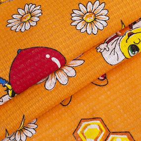 Вафельное полотно 45 см 170 гр/м2 329Б цвет оранжевый фото