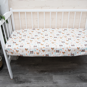 Постельное белье в детскую кроватку из поплина 1976/1 фото