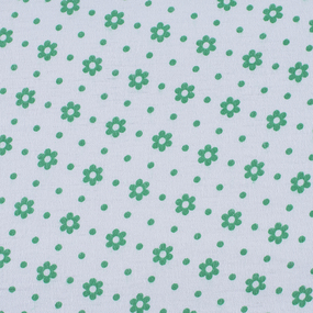 Ткань на отрез фланель 80 см 18052 Цветы на белом фото