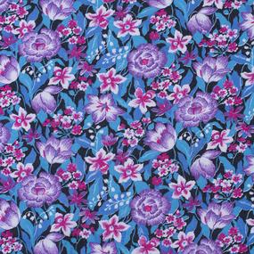 Ткань на отрез фланель 80 см 21053 Цветочная поляна фото