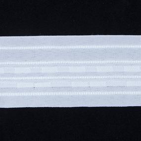 Тесьма шторная Престиж 701М ширина 60 мм (50 м) цвет белый фото