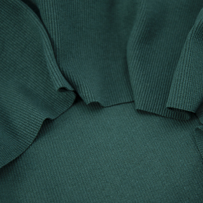Ткань на отрез кашкорсе с лайкрой цвет темно-зеленый фото