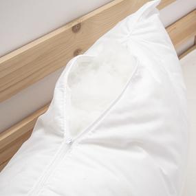 Подушка Лебяжий пух Перо серебро на белом 70/70 фото