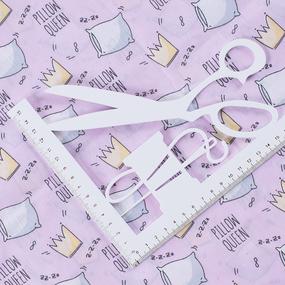 Ткань на отрез поплин 150 см 1982/3 Королевские подушки цвет розовый фото