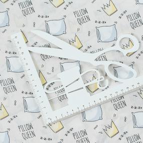 Ткань на отрез поплин 150 см 1982/2 Королевские подушки цвет бежевый фото